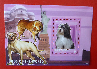 2013 St VINCENT LHASA APSO DOGS UNION ISLAND STAMP MINI SHEET