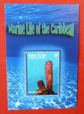 2013 St VINCENT MARINE LIFE UNION ISLAND STAMP MINI SHEET