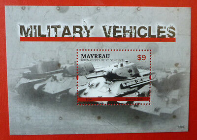 2013 St VINCENT MILITARY VICHLES MAYREAU STAMP MINI SHEET