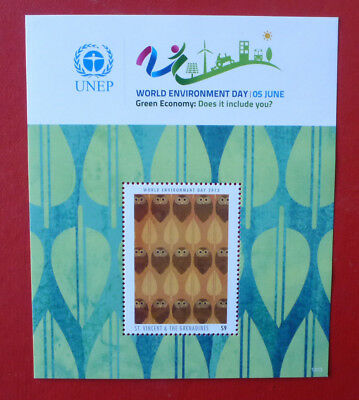 2013 St VINCENT WORLD ENVIRONMENT DAY STAMP MINI SHEET