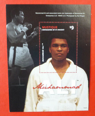 2014 St VINCENT MUHAMMAH ALI MUSTIQUE STAMP MINI SHEET