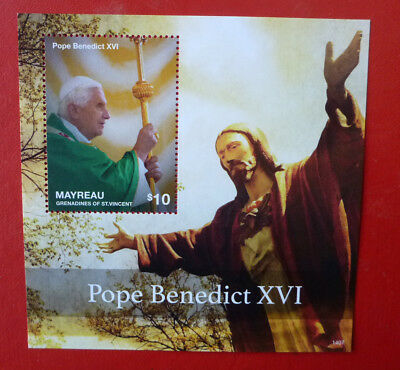 2014 St VINCENT POPE BENEDICT MAYREAU STAMP MINI SHEET