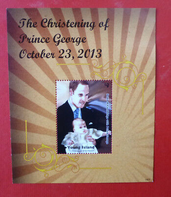 2014 St VINCENT PRINCE GEORGE CHRISTENING YOUNG Is STAMP MINI SHEET