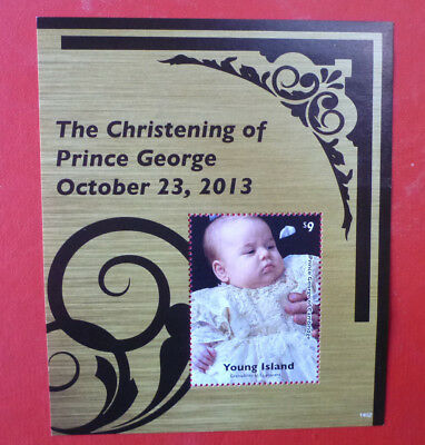 2014 St VINCENT PRINCE GEORGE CHRISTENING YOUNG Is STAMP MINI SHEET 2