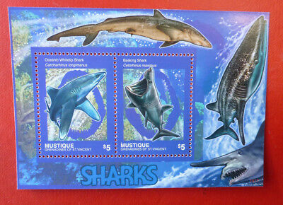 2014 St VINCENT SHARKS MUSTIQUE STAMP MINI SHEET 2