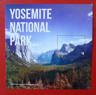 2014 St VINCENT YOSEMITE NATIONAL Pk 150th STAMP MINI SHEET