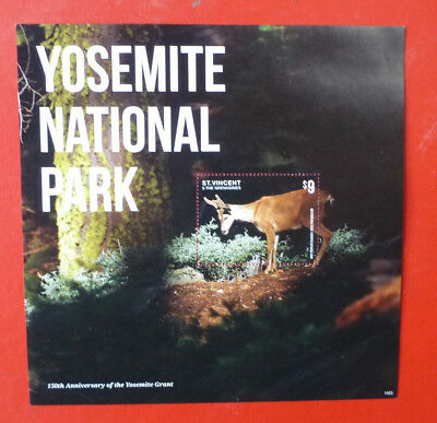 2014 St VINCENT YOSEMITE NATIONAL Pk DEER STAMP MINI SHEET