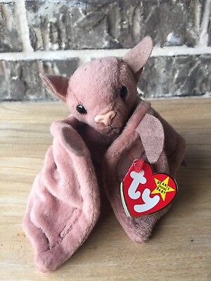 Vintage 1996 Ty Beanie Babies Plush Batty The Bat Retired Collection Stuffed Toy