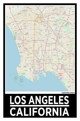 Los Gatos California Street Map Poster 29 99 Picclick