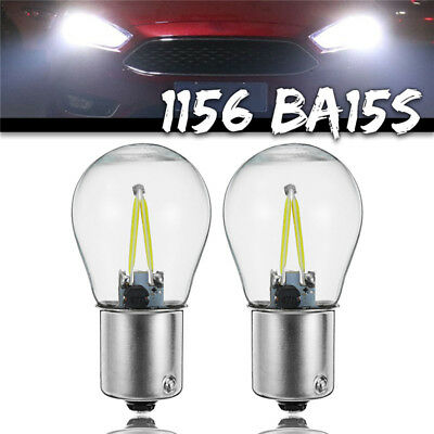 2x 1156 BA15S P21W COB Bianca LED Turno Segnale Light Inverso Backup Lampadina