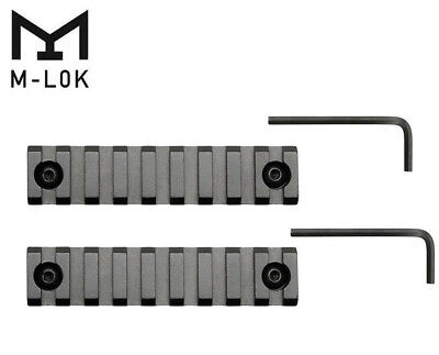 "2Pcs M-LOK 9 Slots 4"" Picatinny/Weaver Rail Segment Handguard Section MLOK"