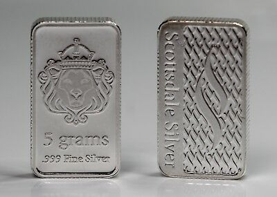 5 Gram Scottsdale Silver Bullion Bar