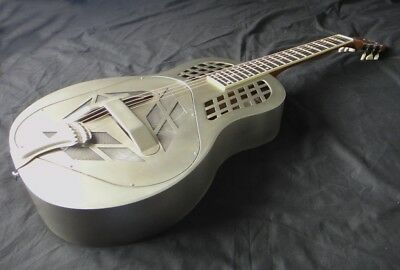 Tricone Tri-Cone Resonator Guitar - 'Vintage' Steel Finish