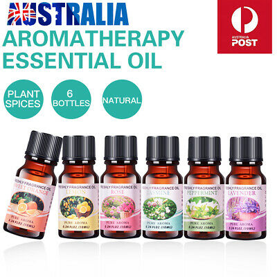 Essential Oil for Diffuser Aromatherapy Oil Humidifier 6 Kind Fragrance AU stock