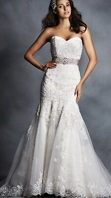 Alfred Angelo 2506 lace wedding dress size 16