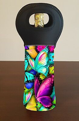 Butterfly Personalised Wine Bottle Cooler Carry Bag