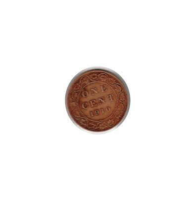 1910 - CANADA (Large Copper) ONE CENT coin (circulated)