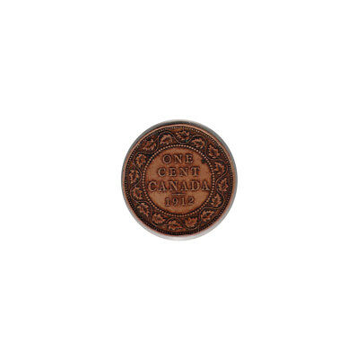 1912 - CANADA (Large Copper) ONE CENT coin (circulated)
