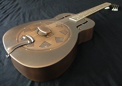 Duolian 'O' Style Resonator Guitar  - 'Antique' Copper Finish