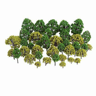 40pcs Mixed Scale Model Trees HO N O Scale Model Tree Garden Architecture Layout