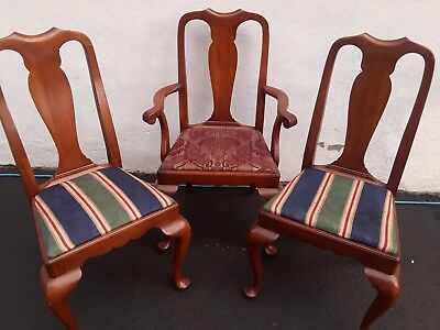 HENKEL HARRIS Cherry Queen Anne Chair Style 109s early American dining side arm
