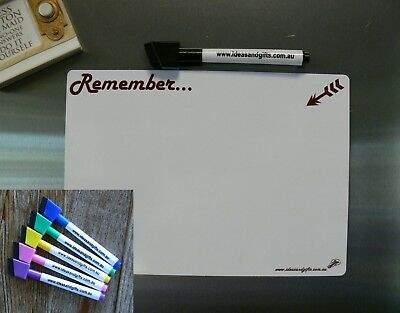 A5 Whiteboard +5 pens Flexible Family Office Reminder Magnetic Fridge Memo Notes