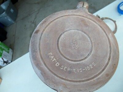 Vintage 1925 Ward's Montgomery Ward Cast Iron Waffle maker antique camping