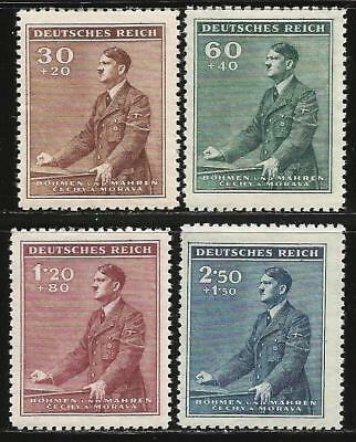 Germany (Third Reich) 1942 MNH - Bohemia/Moravia - Hitler 53rd Birthday