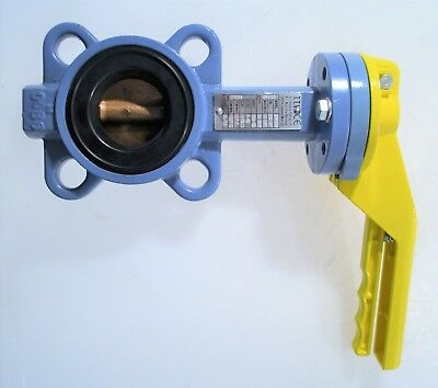 TTV Butterfly Valve DN50 PN10 Yellow Handle