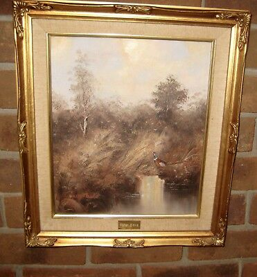 Beautiful Signed & Framed Original Oil on Canvas Landscape Painting