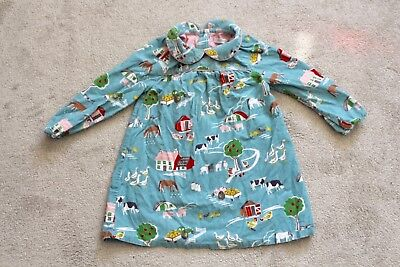 Baby Boden 2-3 Years Girls Long Sleeved Dress With Farmyard Appliqué Detail
