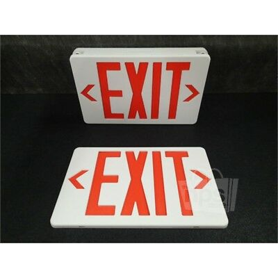Philips VLLCR2R Value+ Mini LED Combo Exit Sign, White/Red