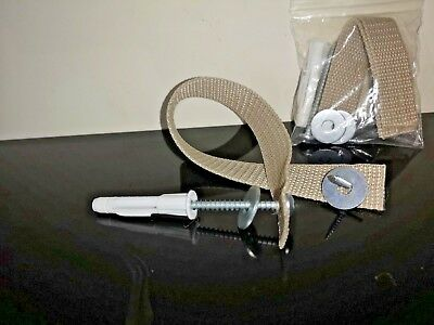 Anti-Tip Furniture Strap - Child & Baby Safety Tether - Fixing Kit - Like IKEA