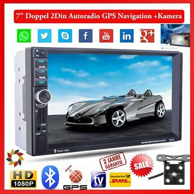 Autoradio Navigation MIT Doppel 2DIN GPS Navi Bluetooth USB MP3 7 Zoll