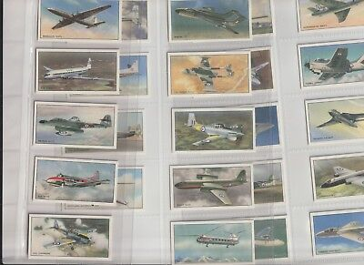 Cigarette / Tea Cards Beaulah British Airplanes Set Of 24 From Collection