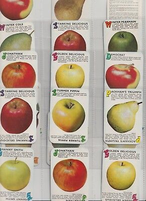 Cigarette / Tea Cards Apples & Pears Set Of 20 From Collection