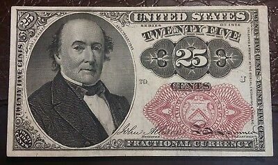☆ Series 1874 Fractional Currency 25 Cent Note Fr#1308 ☆