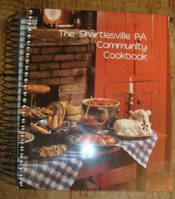 Shartlesville PA Community Cook Book Hotel PA Country Cooking Cookbook Illustr