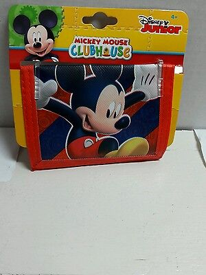 Disney Mickey Mouse Clubhouse Kids Bifold Wallet Holiday gift Favors Tra
