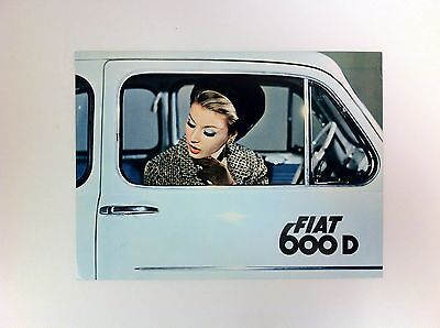 1966 Fiat 600D 600 D Brochure From Harrisburg Auto Show - #(F-40)