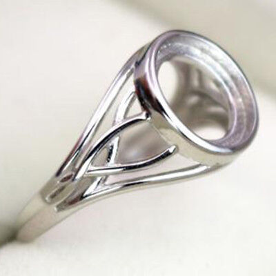 925 Sterling Silver Ring Blank | 'Tree Root' Design | 10mm Setting | Adjustable