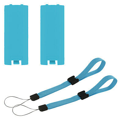 Battery cover set for Wii remote controller Nintendo - 4 in 1 pk blue   ZedLabz