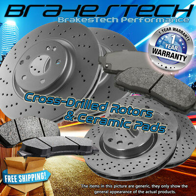 FRONT 369 MM Brake Disc Rotors For 2005 - 2012 FORD F450 F550 SUPER