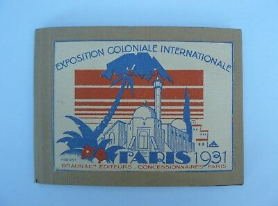 carnet exposition coloniale internationale paris 1931 avec 10 photographies