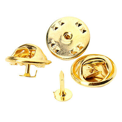 Nail Tie Tac Tack Lapel Pin Back Clutch Scatter Butterfly Clasp Squeeze Clip
