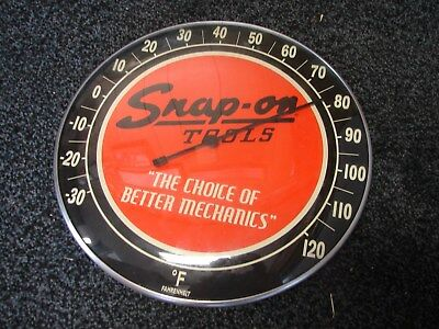 "Snap-On Tools ~  12"" Round Wall Thermometer ~  Fahrenheit ~ FREE S/H IN USA"