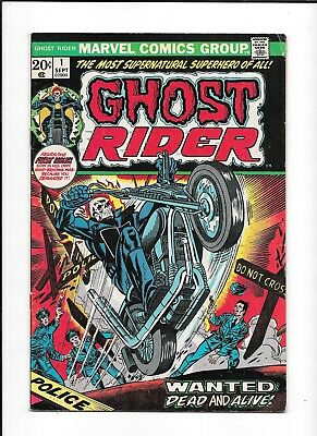 Ghost Rider #1 ==> Vf 1St Issue Of His Own Series 1973 Marvel Comics