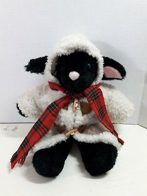 Black Sheep Stuffed Animal In Faux Lamb S Wool Coat North American