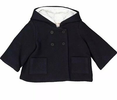 BNWT Bonpoint Misha Double Breasted Manteau Infant Coat Age 6 Months RRP £160
