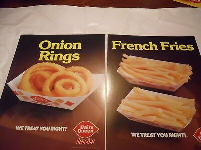 Two 2 Vintage Dairy Queen Promotional Poster 1981